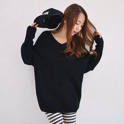 Envy Look - V-Neck Knit Tunic
