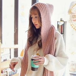 REDOPIN - Hooded Knit Scarf