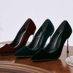 chuu - Pin-Heel Velvet Stilettos