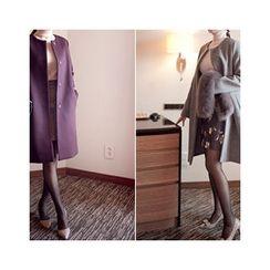 MASoeur - Round-Neck Wool Blend Coat