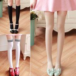 Little Flower - Over-the-knee Socks