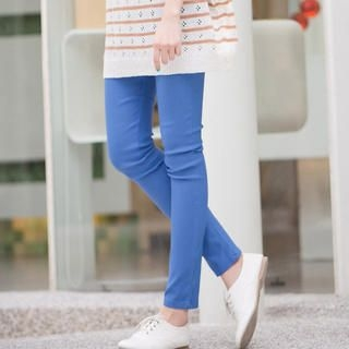 CatWorld - Elastic-Waist Skinny Pants