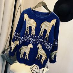 Polaris - Zebra Pattern Sweater
