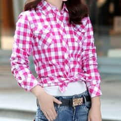 Carreau - Long-Sleeve Plaid Shirt