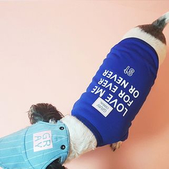 LIFE STORY - Pet Lettering Mesh T-Shirt Costume