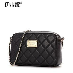 Emini House - Genuine Leather Quilted Shoulder Bag