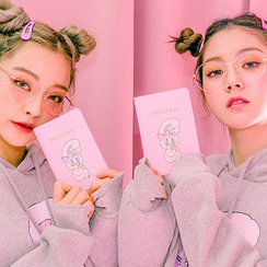 chuu - Bunny Print Passport Case