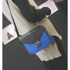 Aishang - Two Tone Boxy Crossbody Bag