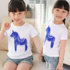 Lullaby - 儿童马匹印花短袖T恤