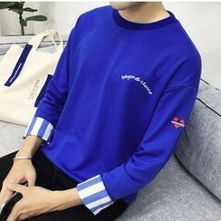 Bay Go Mall - Letter Embroidered Pullover