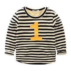 Kido - Kids Appliqué Striped Top