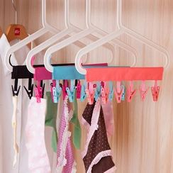 Wild Bamboo - Travel Fabric Clothes Line with Clips