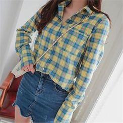 Babi n Pumkin - Plain Checked Shirt