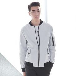 DANGOON - Linen Blend Zip-Up Jacket