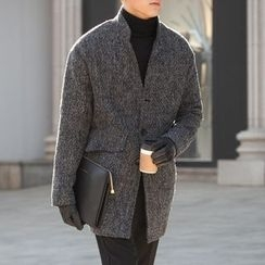 DANGOON - Single-Breasted Flap-Pocket Coat