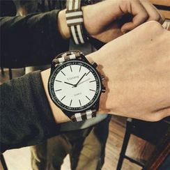 InShop Watches - 条纹帆布针扣带手表