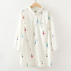 ninna nanna - Print Long-Sleeve Blouse