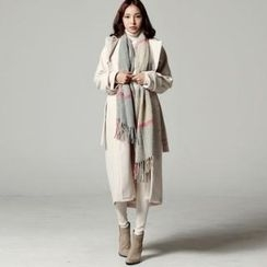 SARAH - Wool Blend Trench Coat With Sash
