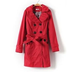 9mg - Bow-Accent Trench Coat