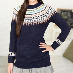 59 Seconds - Ethnic Pattern Sweater