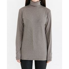 Someday, if - Turtle-Neck Striped Top