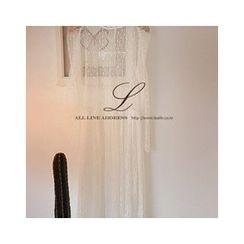 LEELIN - Ruffle-Hem Sheer Dress