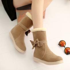 Shoes Galore - Bow Short Boots