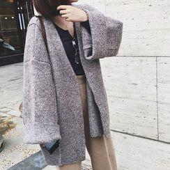 Supernini - Loose Fit Chunky Knit Coat