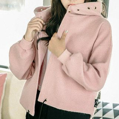 Fashion Street - Hooded Knit Jacket