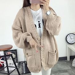 FR - Chunky Knit Long Cardigan