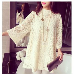 Sienne - 3/4-Sleeve Lace Tunic