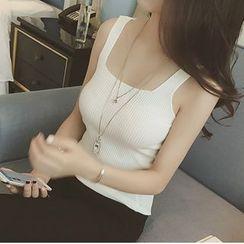 Eva Fashion - 純色背心上衣