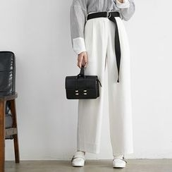 HORG - Plain Wide Leg Pants