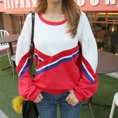 DABAGIRL - Drop-Shoulder Color-Block Sweatshirt