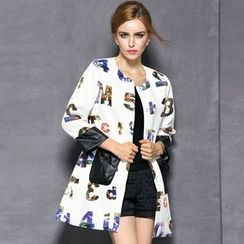 Queen Mulock - Printed Button Coat