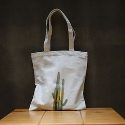 AnnJay Bags - Printed Canvas Shopper Bag