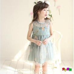 Cuckoo - Kids Floral Mesh Dress