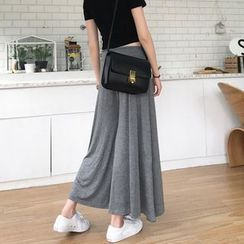 OCTALE - Plain Wide Leg Pants