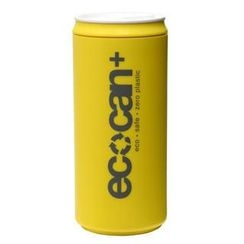 Eco Concepts - Eco Can Plus Yellow with Charcoal Print (450ml)
