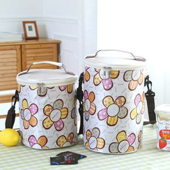 Case in Point - Heart Printed Insulated Lunch Bag