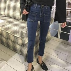 Chililala - Cropped Boot Cut Jeans