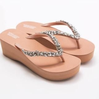 FM Shoes - Rhinestone Flip-Flops