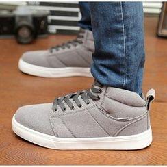 Easy Steps - Fleece-lined High-top Sneakers