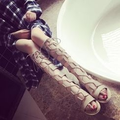 Hipsole - Tie-Up Tall Sandals