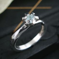 Sterlingworth - Aquamarine Sterling Silver Ring