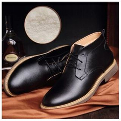 Fortuna - Genuine-Leather Furry-Lined Desert Boots