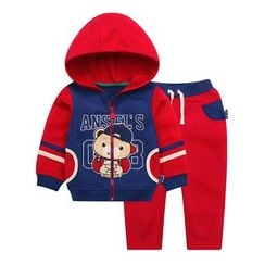 Ansel's - Kids Set: Applique Hoodie + Sweatpants