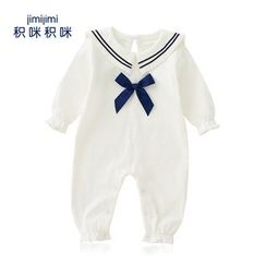 JIMIJIMI - Baby Sailor Collar One-Piece