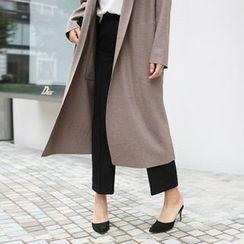 STYLEBYYAM - Wool Blend Pleat-Front Dress Pants
