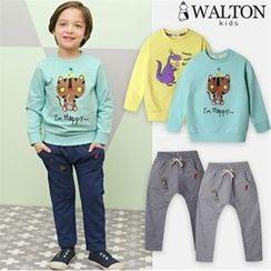 WALTON kids - Kids Set: Printed Pullover + Harem Pants